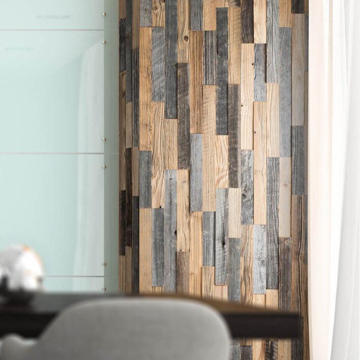Bardage bois intérieur vertical