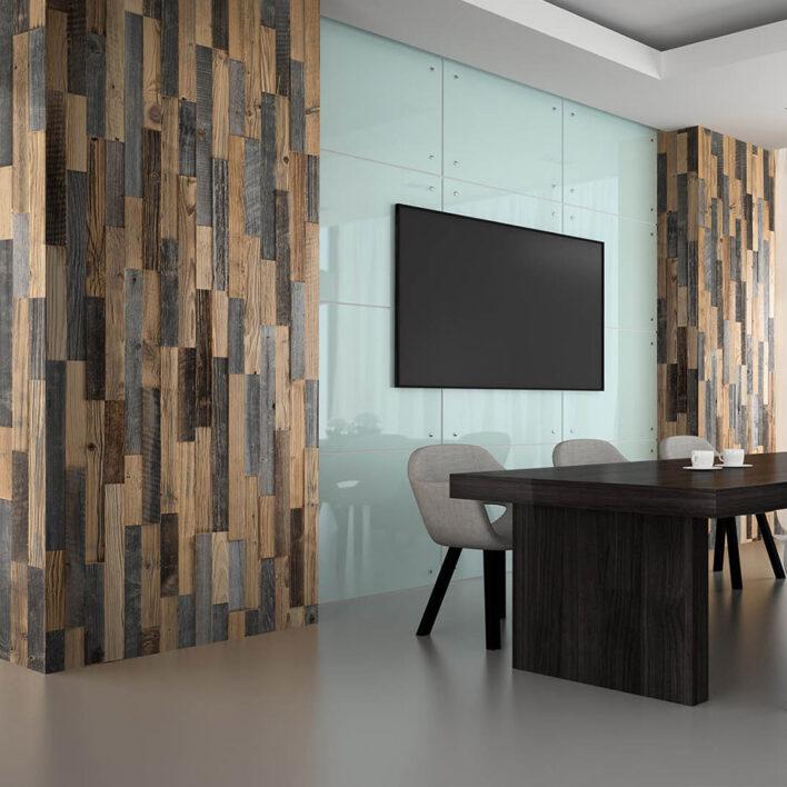 Bardage bois mural vertical