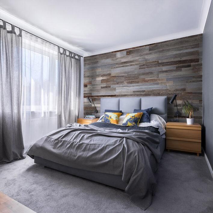 Déco mur chambre en bois
