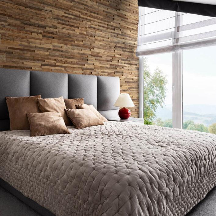 Déco chambre mur en bois
