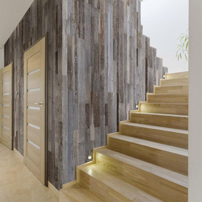 Déco montée d'escalier bois
