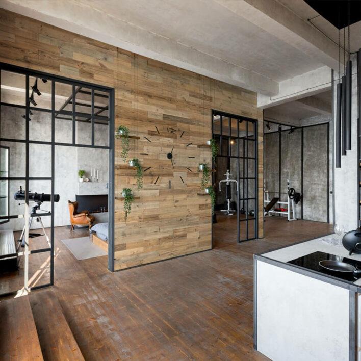 décoration mur en bois