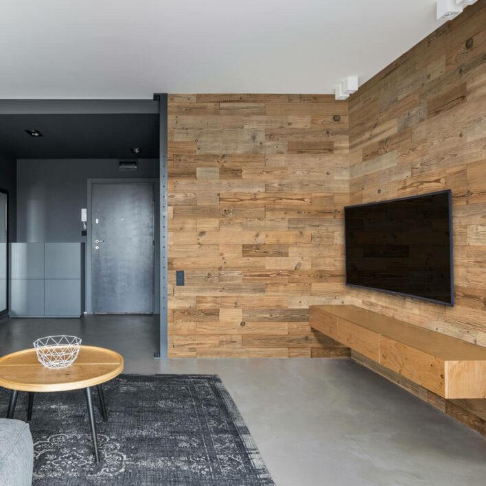 décoration mur en bois intérieur
