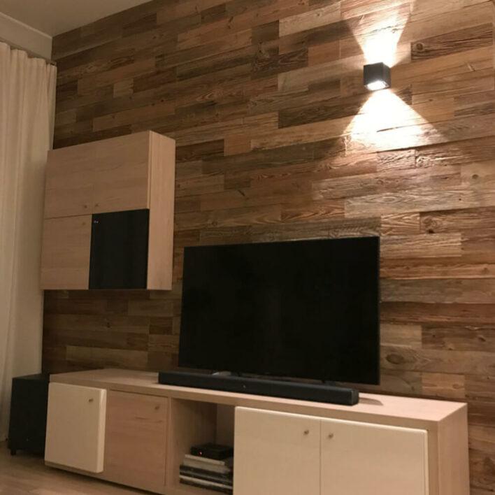 décoration mur en bois salon