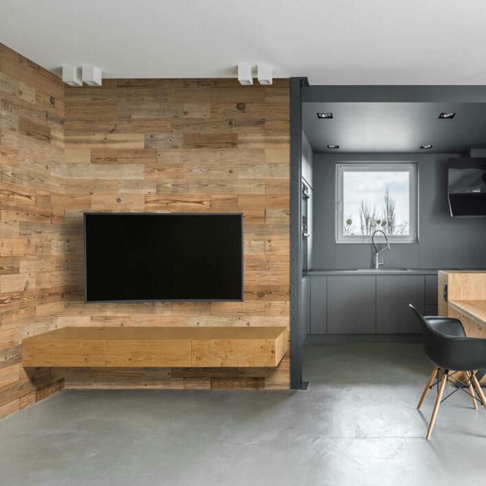 décoration salon mur en bois