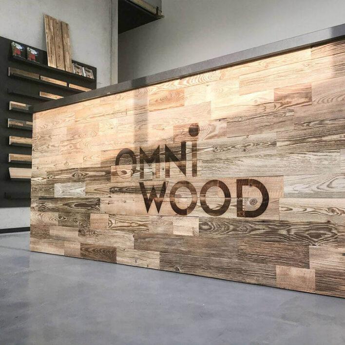 demi mur en bois