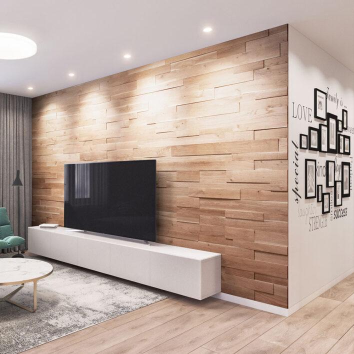 Habillage mur bois