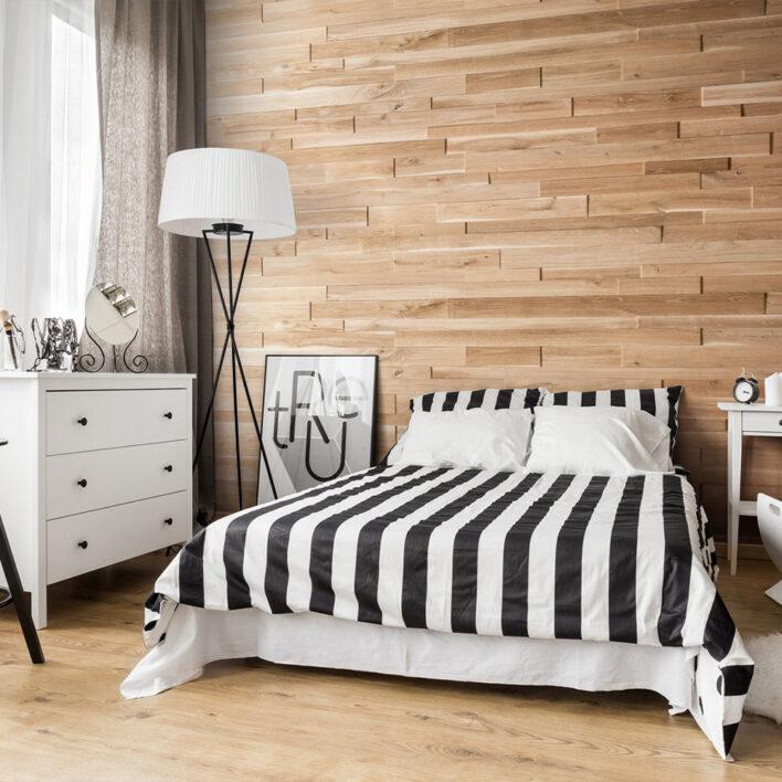 Habillage mur décoratif bois