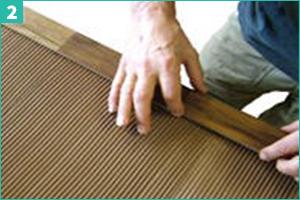 Installation plaquette parement bois