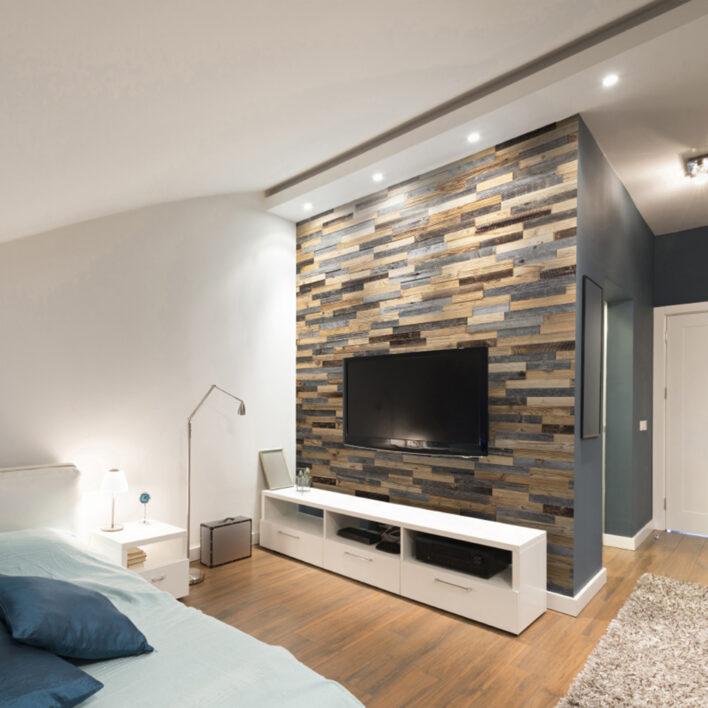 Mur bardage bois décoratif