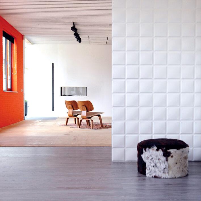 mur blanc 3d