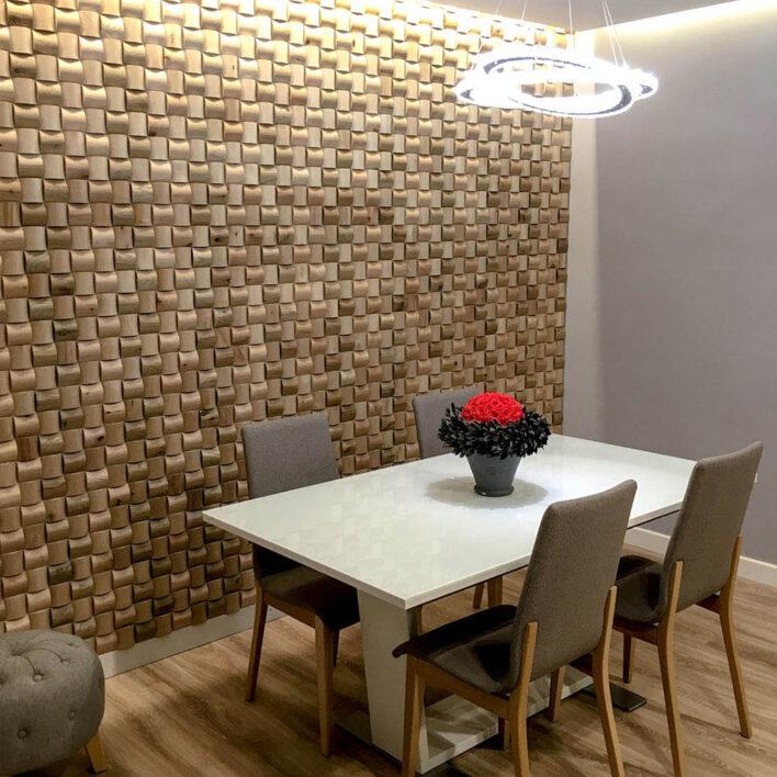 mur bois décoratif séjour