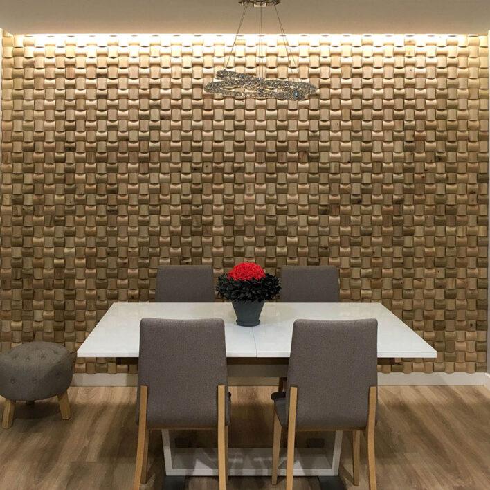 mur bois décoratif séjour rubato