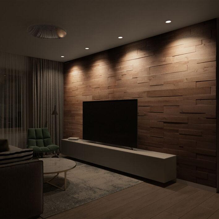 Mur bois intérieur