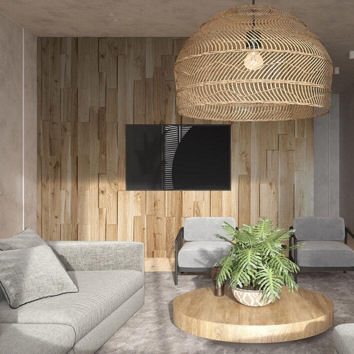 Mur bois intérieur Ozo