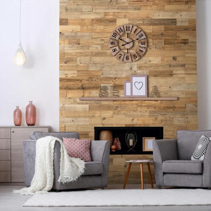 mur en bois intérieur