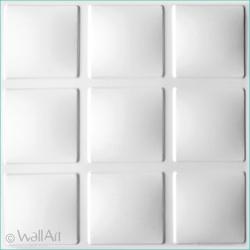 mur en relief cubes