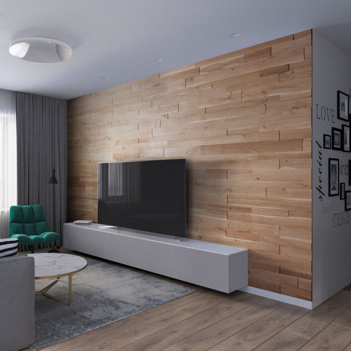 Mur intérieur bois