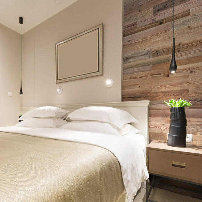 Mur intérieur bois chambre