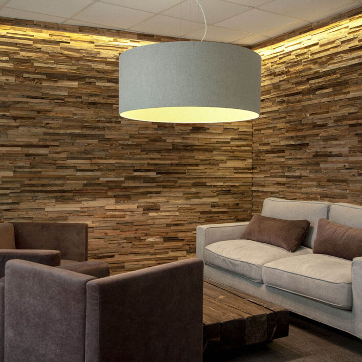 Mur intérieur en bois