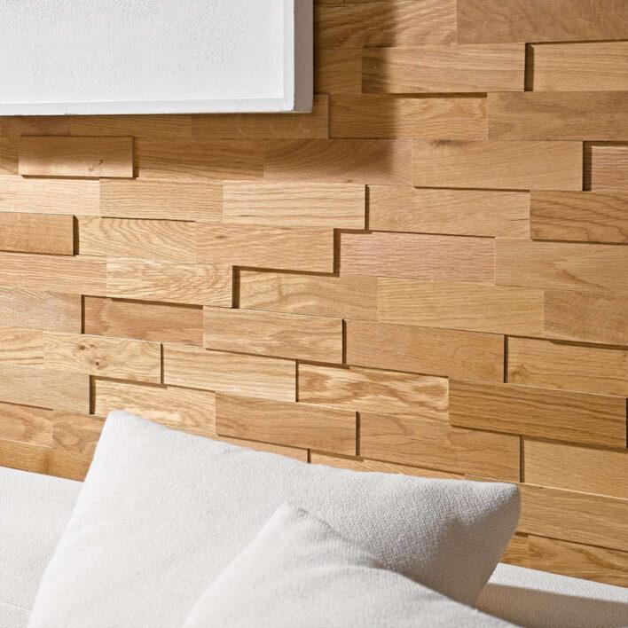 Mur plaquette de parement bois