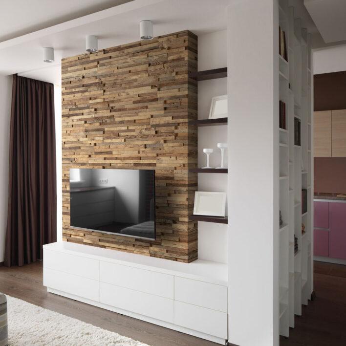 Mur tv bois
