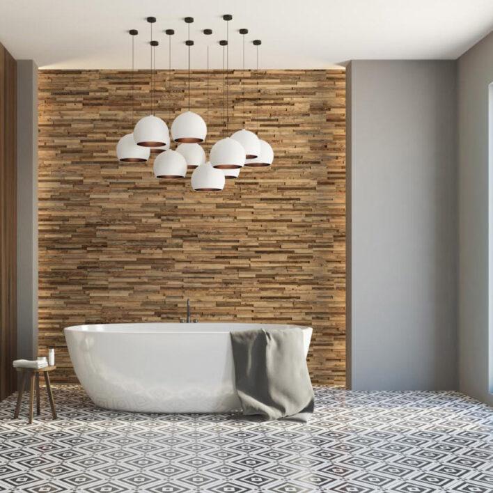 panneau bois deco salle de bain