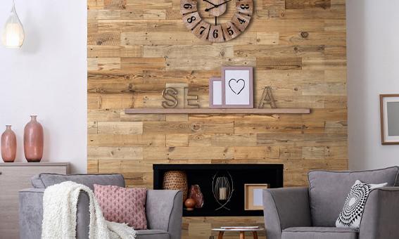 panneau mural décoratif bois