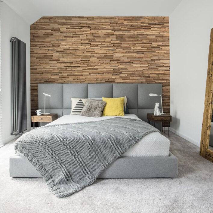 Panneau tête de lit bois