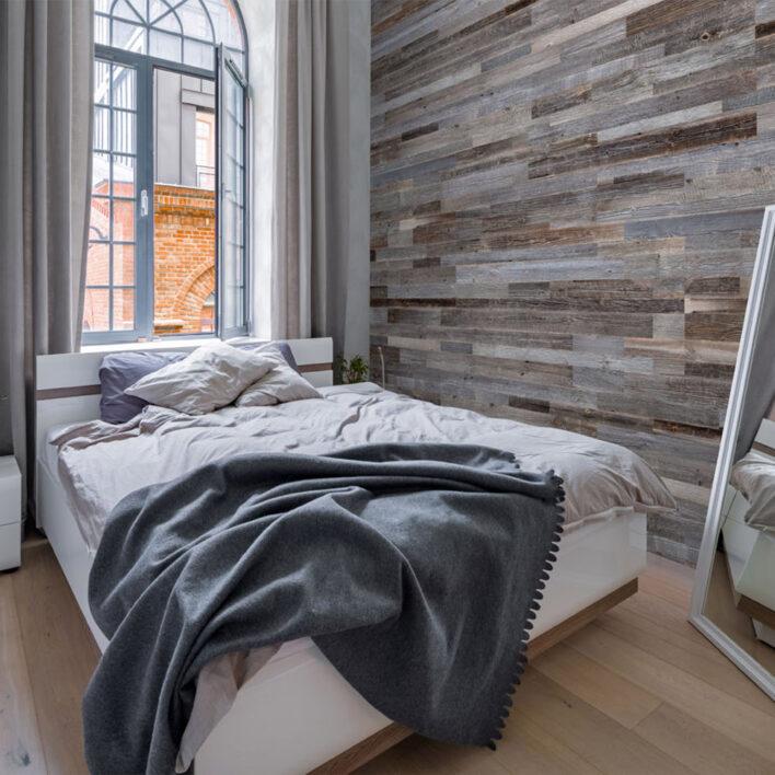 Panneaux bois déco chambre
