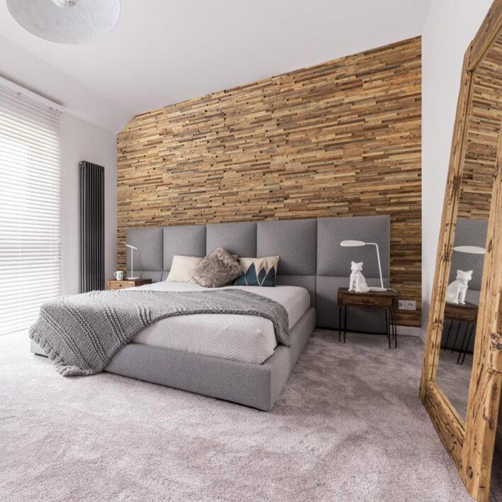 Panneaux muraux tête de lit bois