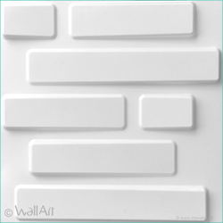 plaque 3d wallart bricks
