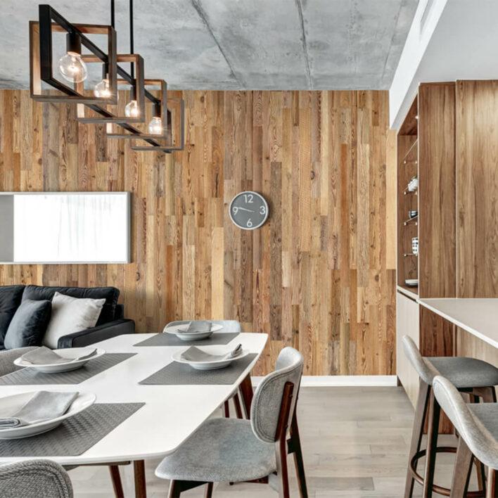 Revêtement mural bois intérieur