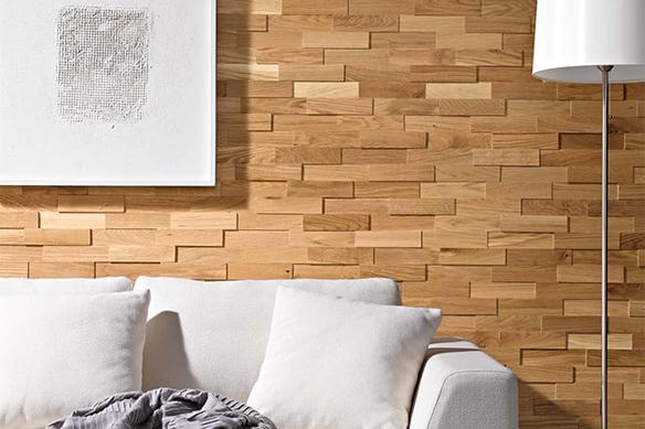 Revêtement mural bois naturel