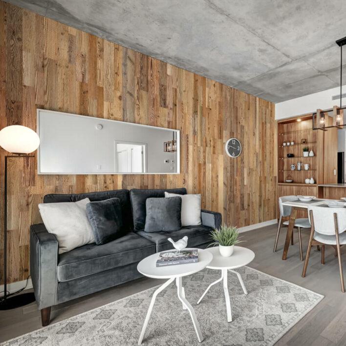 Revêtement mural bois pour salon