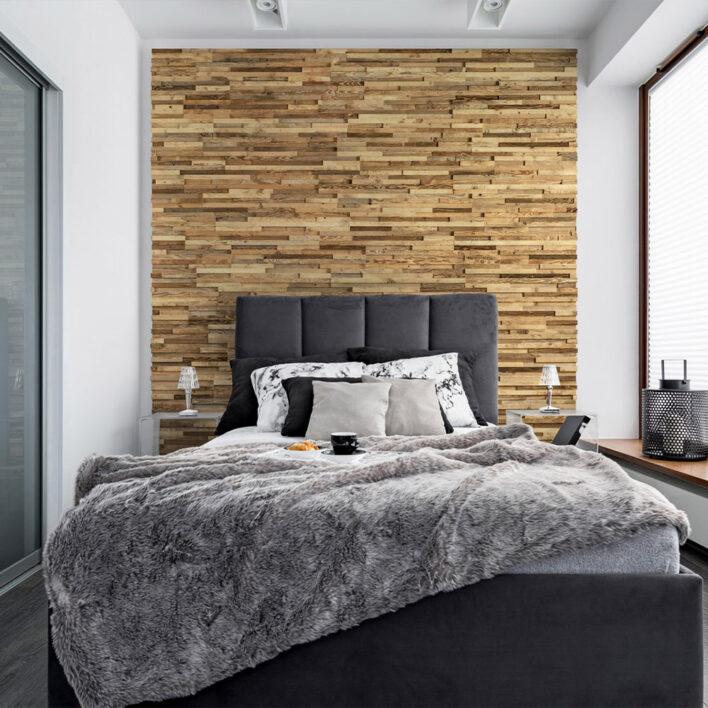 Tête de lit chambre bois