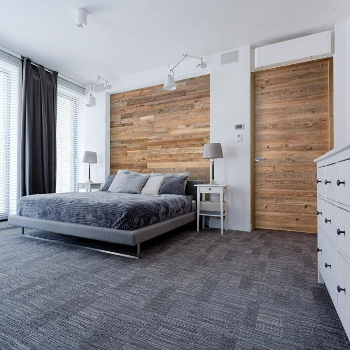 Tête de lit en bois salon
