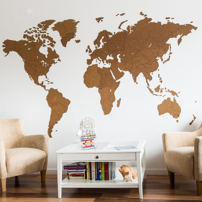 acheter grande carte du monde