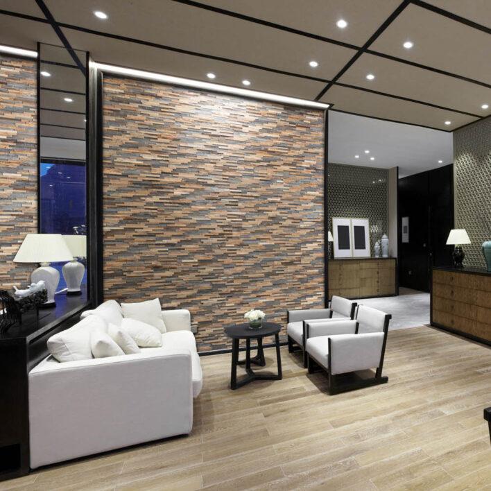 bardage bois intérieur salon