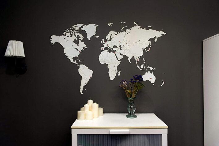 carte du monde blanc