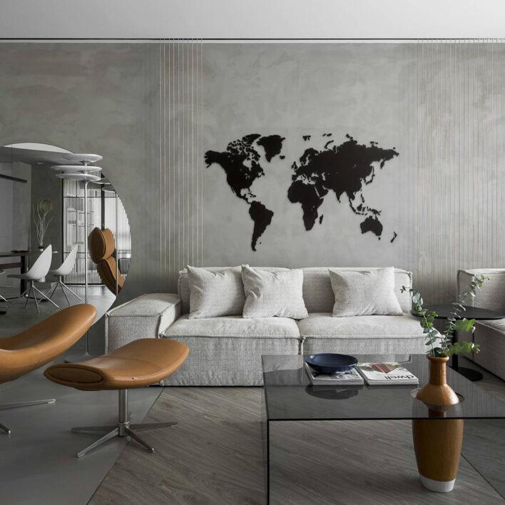 carte du monde en relief