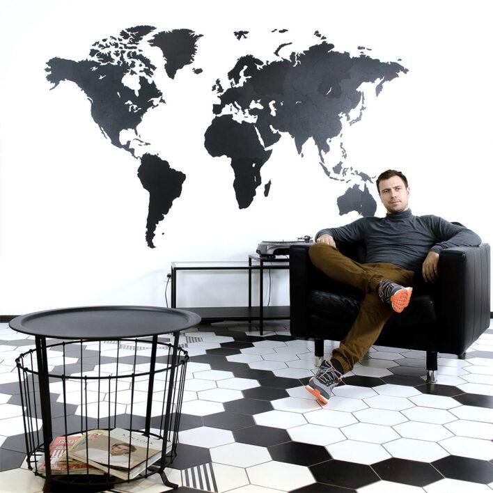 carte du monde murale grand format