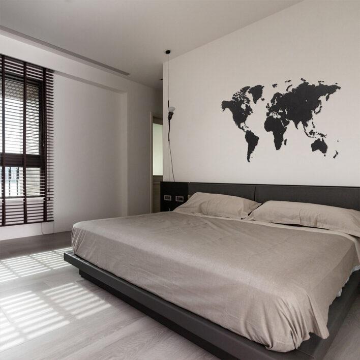 carte du monde tete de lit