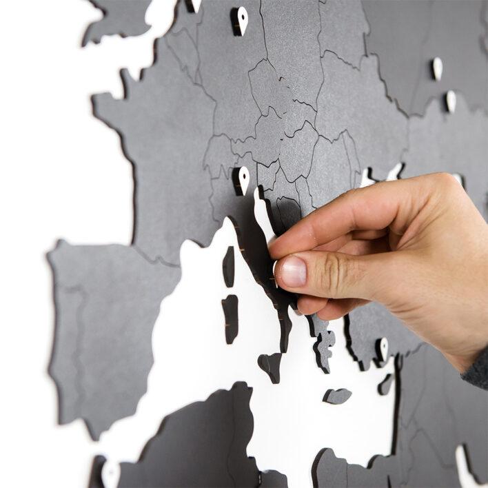 carte monde simplifiée