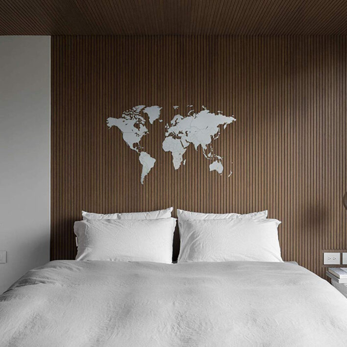 deco map monde mur