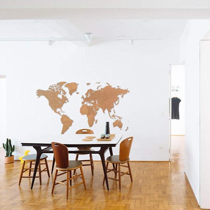 deco murale geante carte du monde