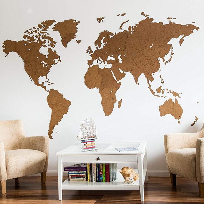 grande map monde geante