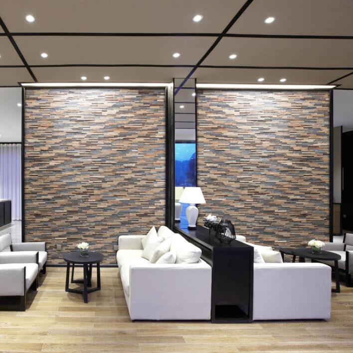 Habillage mur bardage bois