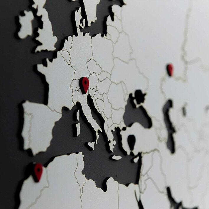map monde en relief