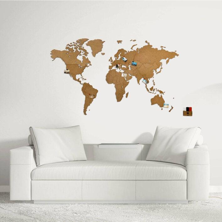 map monde murale